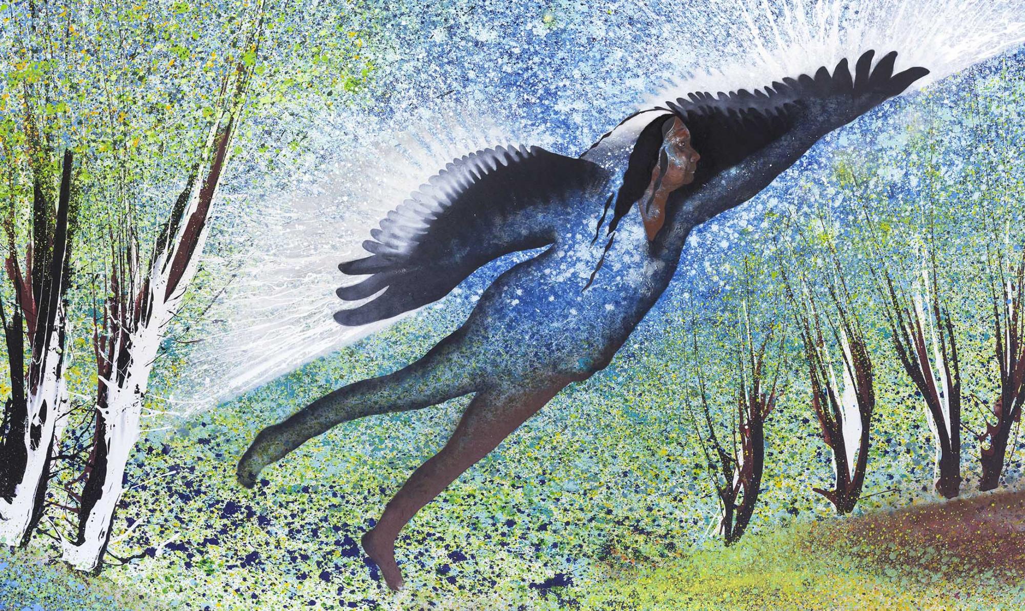Black Swan, Aunty Eileen Harrison, 2021_Artist Kerrie Warren