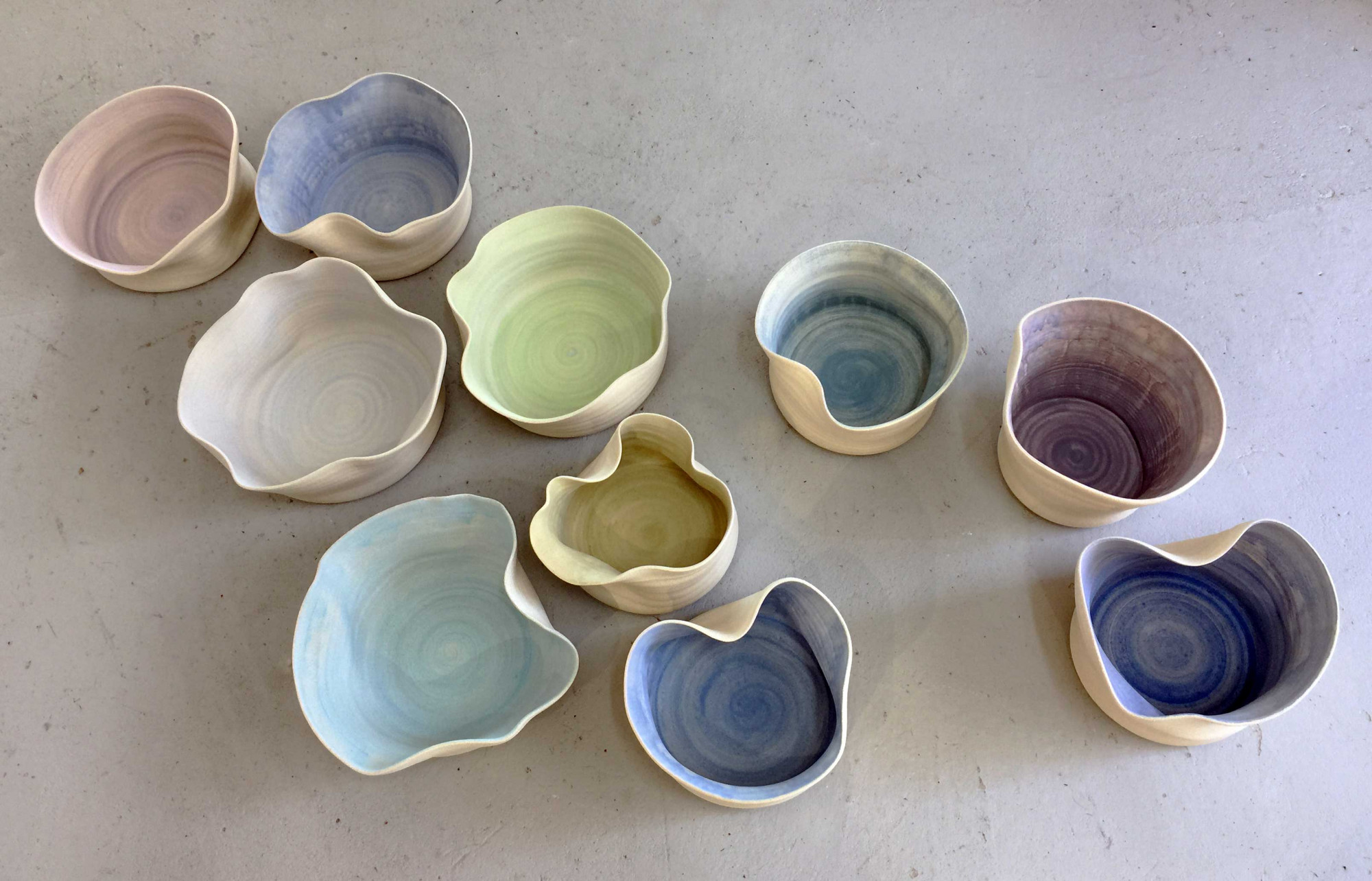Floating Bowls 2019, Ceramics by Kerrie Warren