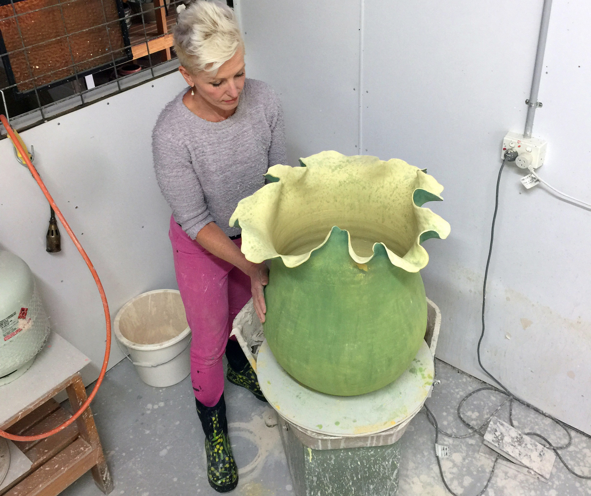 Kerrie Warren_In the Studio with a Work in Progress_WebRes